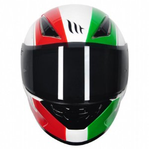 Capacete Mt Revenge Binomy White/Red/Green