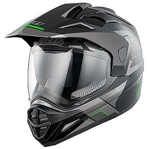 Capacete X11 Crossover X3-N Sv Preto Neon