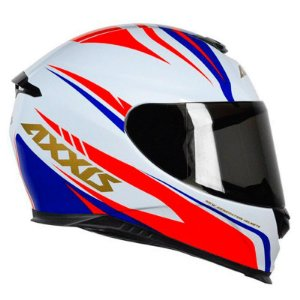 CAPACETE AXXIS EAGLE HYBRID WHITE-BLUE-RED