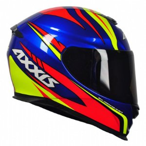 CAPACETE AXXIS EAGLE HYBRID RACE BLUE