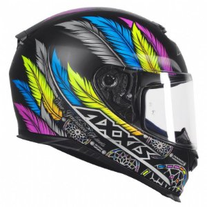 CAPACETE AXXIS EAGLE DREAMS MATT BLACK GREY