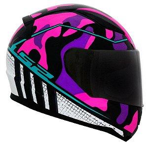 Capacete Ls2 Ff353 Rapid Bravado Pink Camuflado