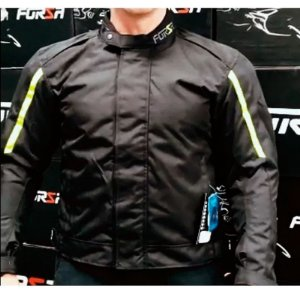 Jaqueta Motociclista Forza City Rider Winter Preto/ Amarelo Fluor