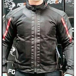 Jaqueta Motociclista Forza City Rider Summer Preto/ Vermelha