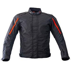 Jaqueta Motociclista Forza City Rider Winter Preto/ Vermelho