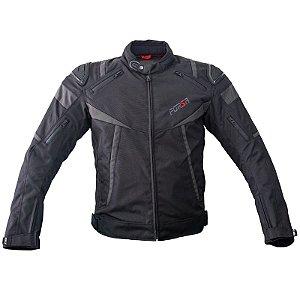 Jaqueta Motociclista Forza Textile Mugello Racing Preto
