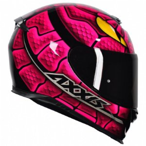 Capacete Axxis Eagle Snake Black-Pink