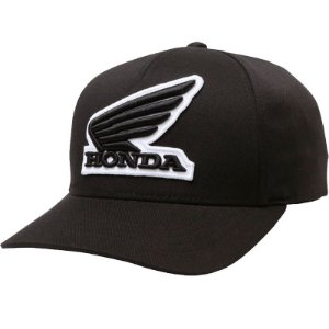 Boné Fox Lifestyle Honda Flexfit Hat Preto