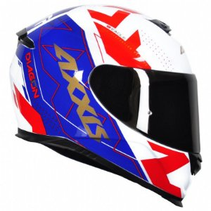 Capacete Axxis Eagle Diagon White Blue Red