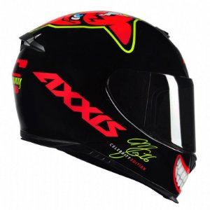 Capacete Axxis Eagle Mg16 Celebrity Edition Marianny Black Red