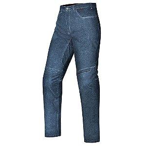Calça Feminina X11 Jeans Motociclista Ride Kevlar Azul Com Proteções