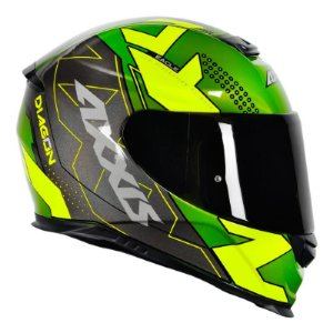 Capacete Axxis Eagle Diagon Gloss Green Yellow