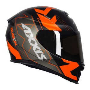 Capacete Axxis Eagle Diagon Matt Black Orange