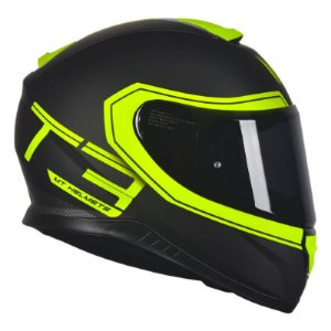 Capacete Mt Thunder3 Beta Matt Black-Yellow