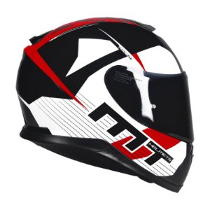 Capacete MT Thunder3 Ray Black-White