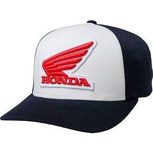 Boné Fox Lifestyle Honda Flexfit Hat Branco
