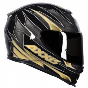 Capacete Axxis Eagle Speed Gloss Black Gold