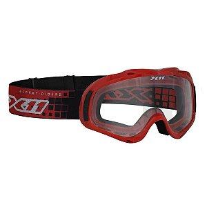 Oculos X11 Mx2 Vermelho - Cross