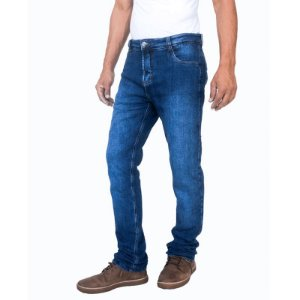 Calça Masculina Corse Motorcycle Jeans – Stone Washed/Azul - Slim