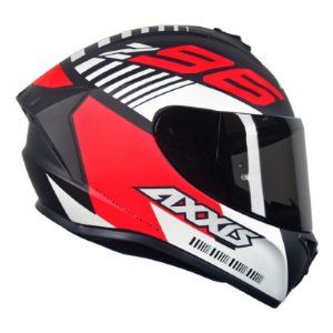 Capacete Axxis Draken Z96 Matt Black Red