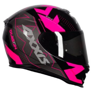 Capacete Axxis Eagle Diagon Black Pink