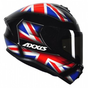 Capacete Axxis Draken Uk Gloss Black/ Red/ Blue