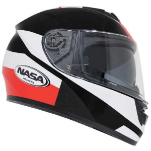 Capacete Nasa Racing Ns-901 Star com viseira solar