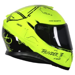 Capacete Mt Thunder 3 Board Yellow Black