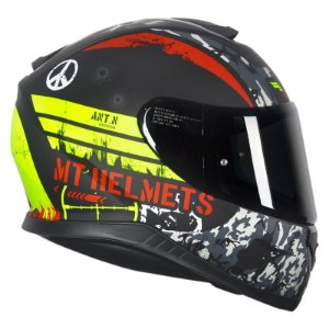 Capacete MT Thunder3 Sniper Matt Black/Yellow