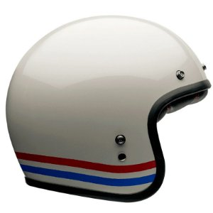 Capacete Bell Custom 500 Stripes Pearl White