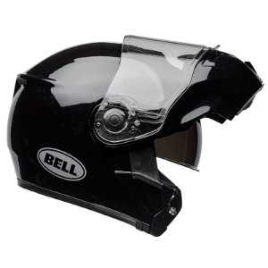 Capacete Bell Articulado Srt Modular Solid Gloss Black (Com viseira Solar)