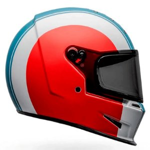Capacete Bell Eliminator Slayer White Red Blue