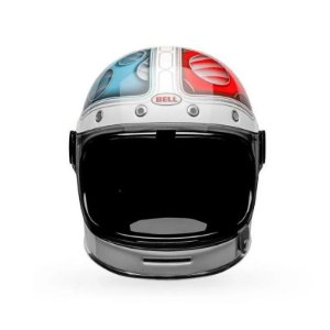 CAPACETE BELL BULLITT BARRACUDA WHITE RED BLUE
