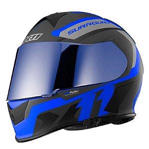 Capacete X11 Revo Pro Surround Azul (com viseira solar)