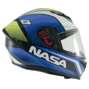 Capacete Nasa Ns-701 Evolution Azul e Verde