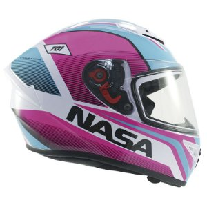 Capacete Nasa Ns-701 Evolution Rosa e Azul