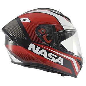 Capacete Nasa Ns-701 Evolution Vermelho e Preto