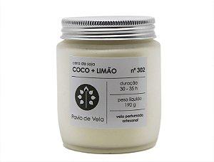 Vela Perfumada Pavio de Vela: Coco+Limao No.302 - 190g