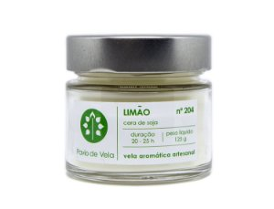 Vela Perfumada Pavio de Vela: Limao No.204 - 145g