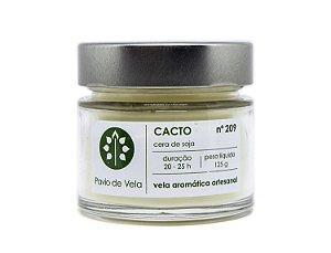 Vela Perfumada Pavio de Vela: Cacto No.209 - 145g