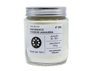 Vela Perfumada Pavio de Vela: Chá Branco+Flor de Laranjeira No.303 - 190g