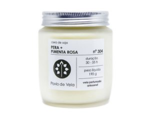 Vela Perfumada Pavio de Vela: Pêra+Pimenta Rosa No.304 - 190g