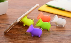 Suporte para Celular e Tablet de Silicone Cachorrinho