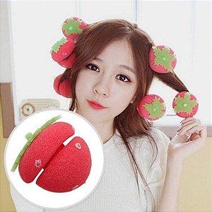 Morangos para Cachear Cabelo - Strawberry Balls Curlers (12 Unidades)