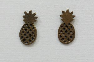 Brinco Pequeno Abacaxi Dourado