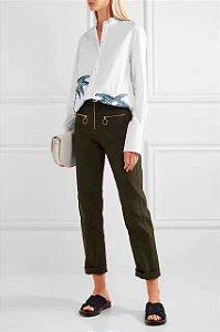 Blusa feminina 100% algodão, bordada O seu estilo é você, escolha a sua tendência.