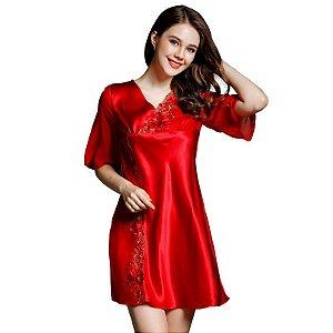 YIYUAN Marca Verão NEW Real Silk Mulheres Pijamas Bordado Sensuais Calças de Pijama de Seda Define Duas Peças Pijama