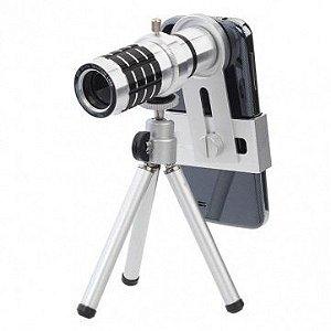 12x Zoom telescópio lente com tripé deixe sua foto mais estilosas. modelo universal