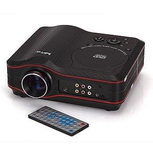 Projetor Multimídia LED com DVD 800x600, 30 Lumens, 100:1
