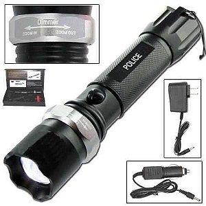 Lanterna Tática Led Swat 250000w Com Zoom Bateria E Red Sinalizador